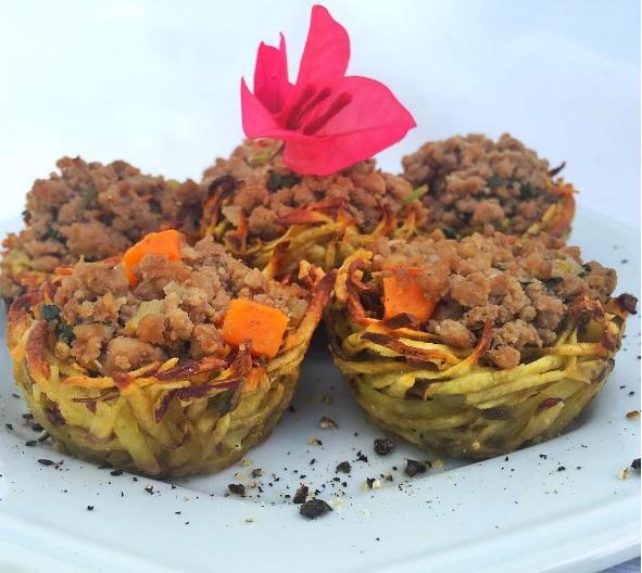 cestinha de batata doce